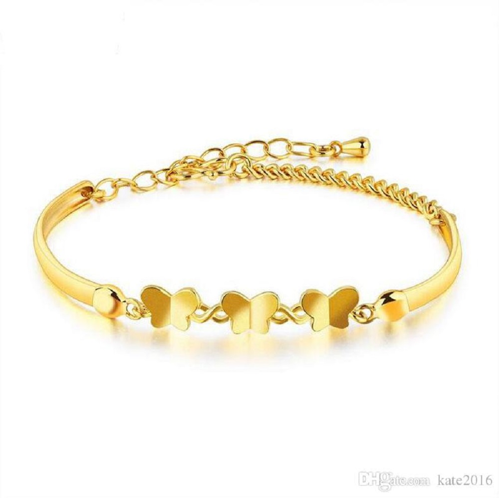it's a picture of gold bracelet designs for ladies
