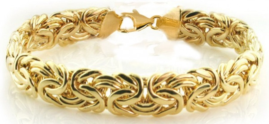 it's a picture of byzantine gold bracelet designs for ladies