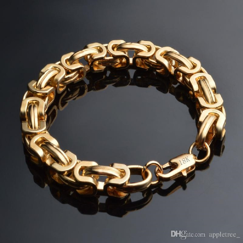 simple chain gold bracelet designs 18k