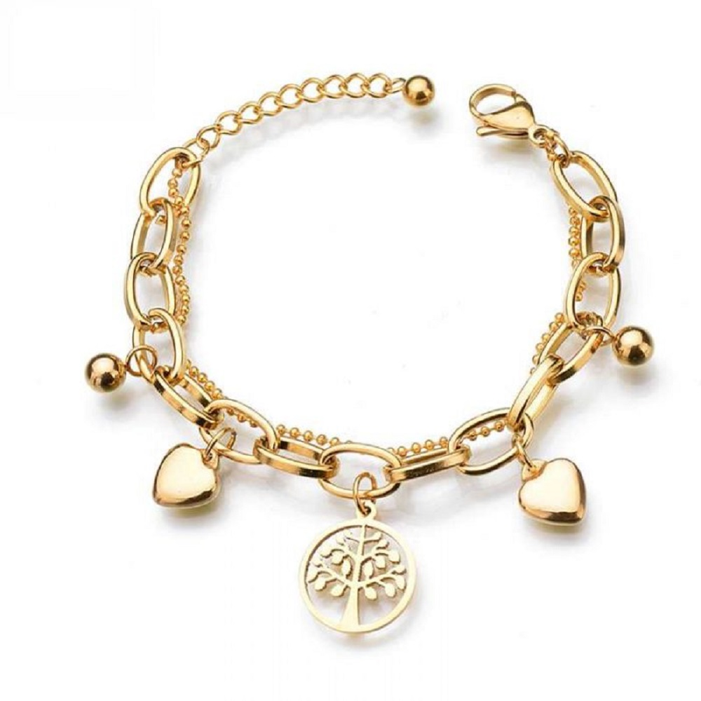 18k gold charm bracelet for baby