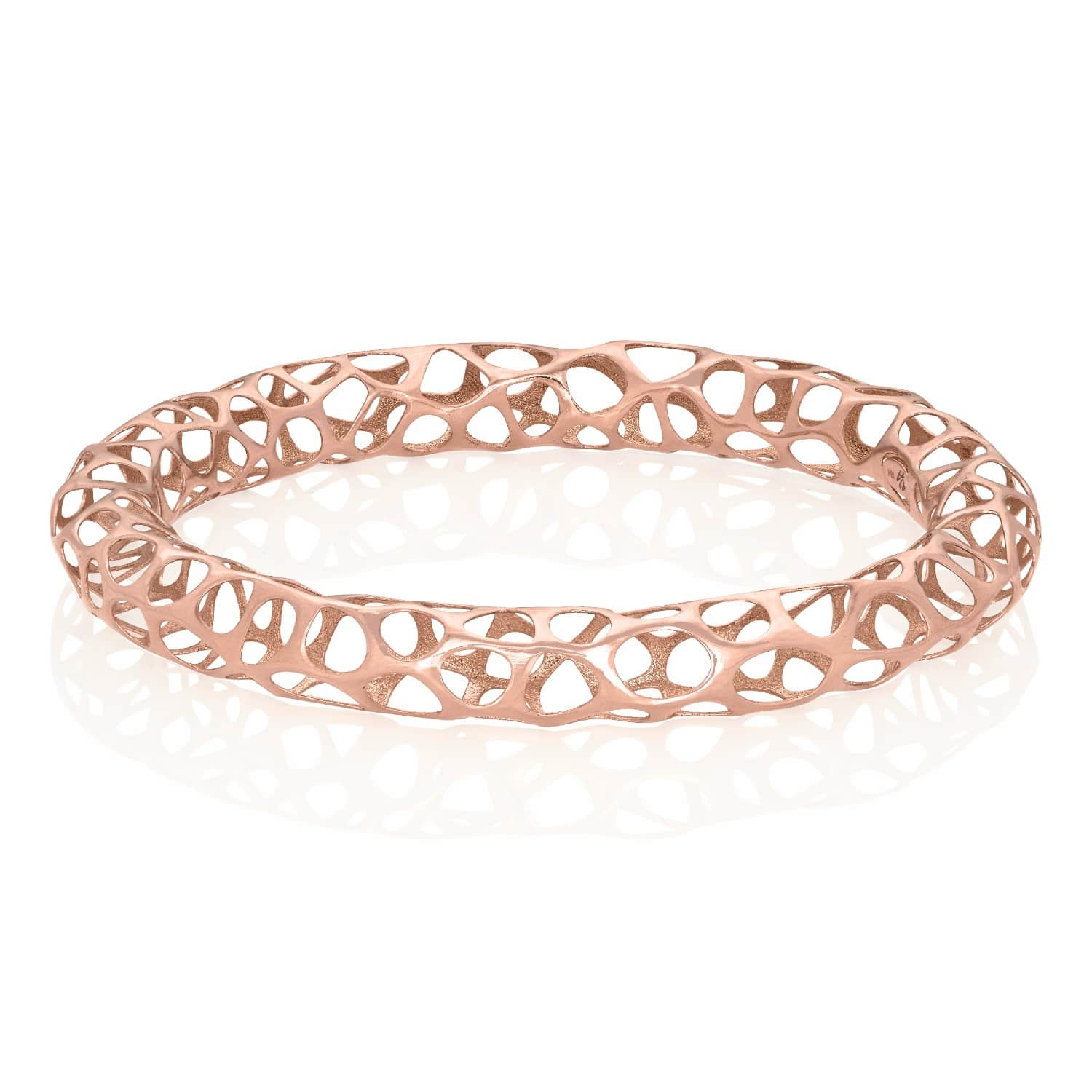 lace rose gold bangle 18K for ladies