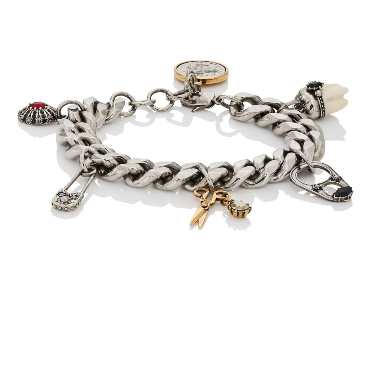 men sterling silver charm bracelet ebay