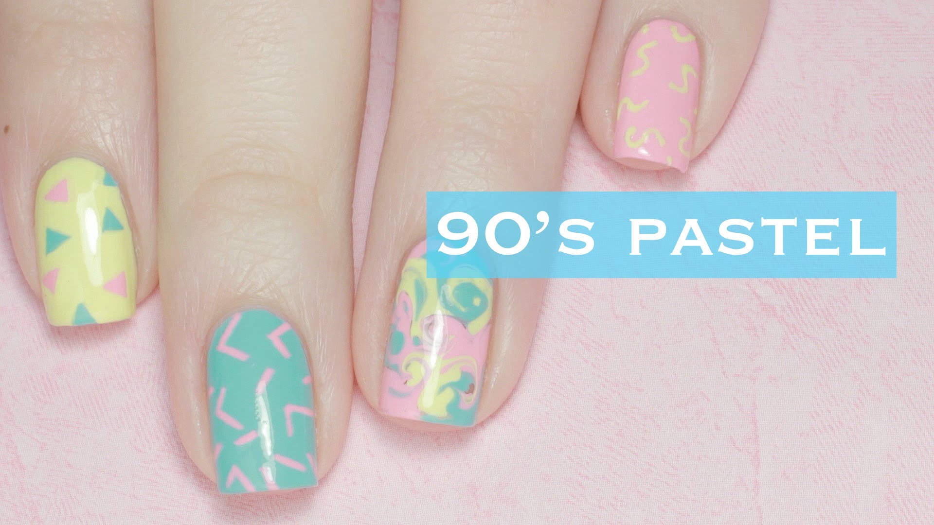 casual nail art designs with pastel vibe