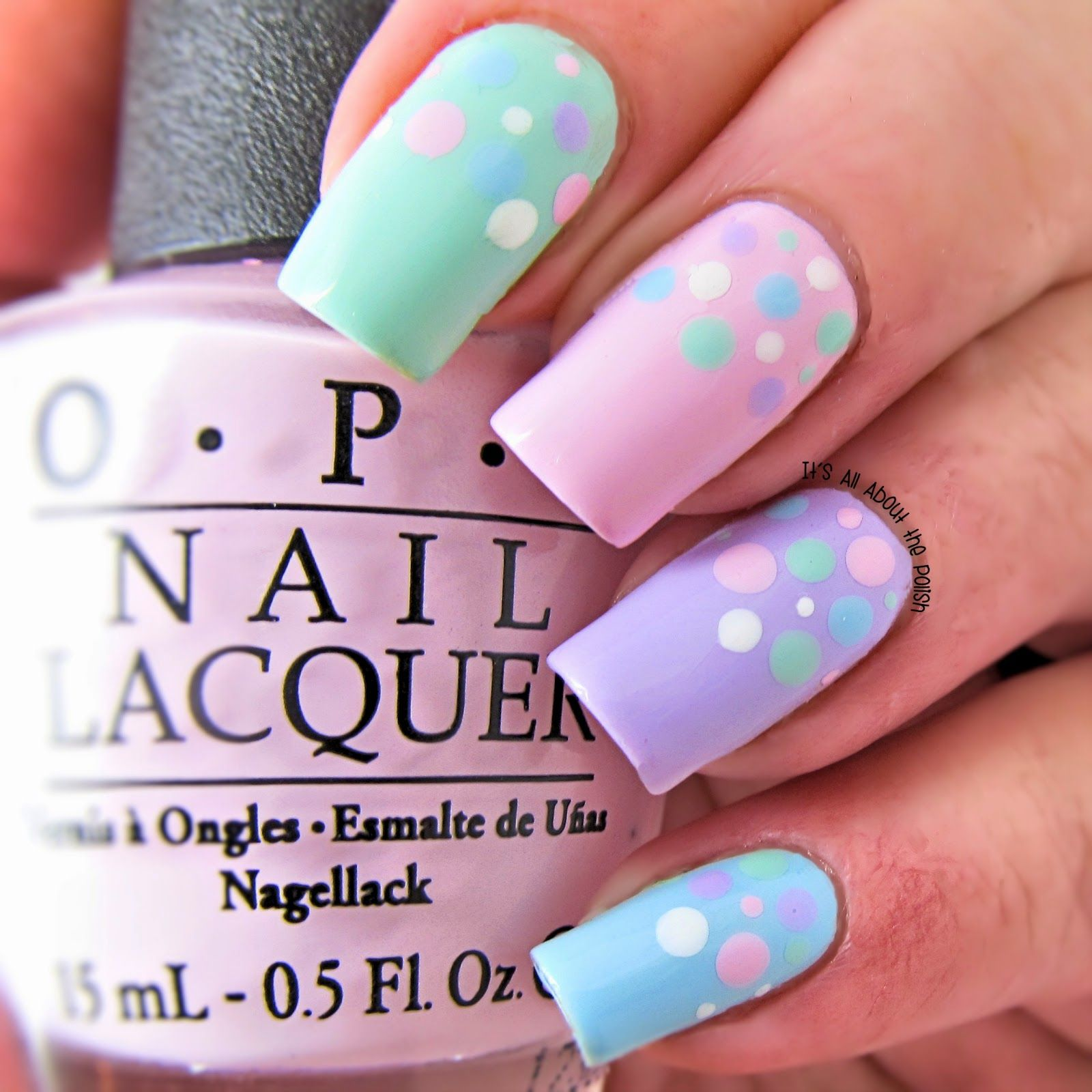 pastel wedding nail art designs