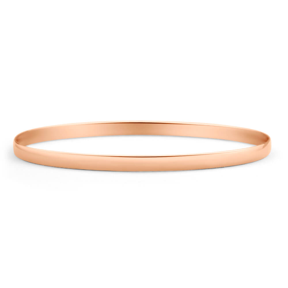 plain rose gold bangle solid design for girls