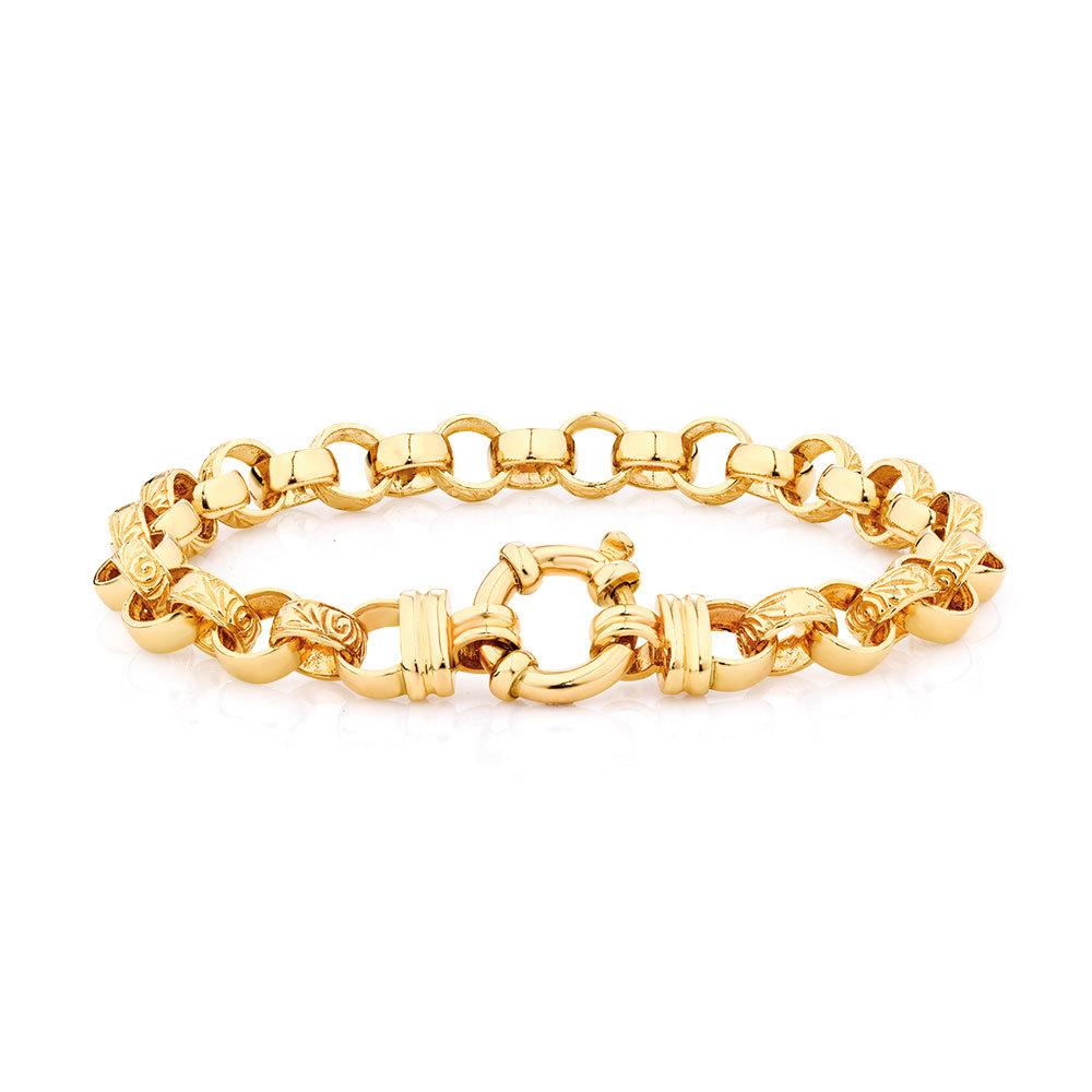 rolo gold chain bracelet 24K