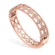 best jewelry rose gold bangle with flowers