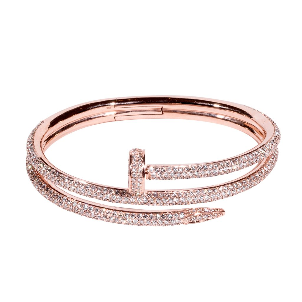 rose gold bangle with diamond for girls