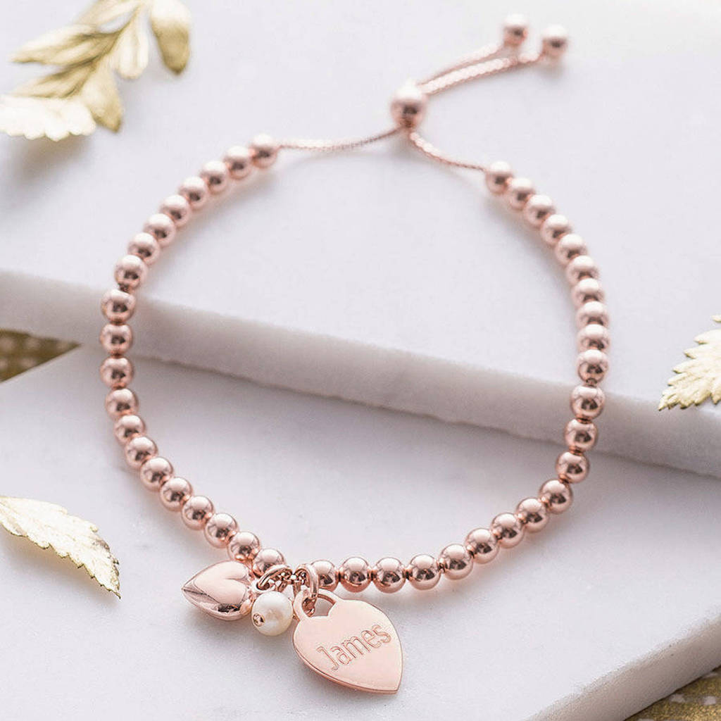 14k rose gold bracelet designs for ladies