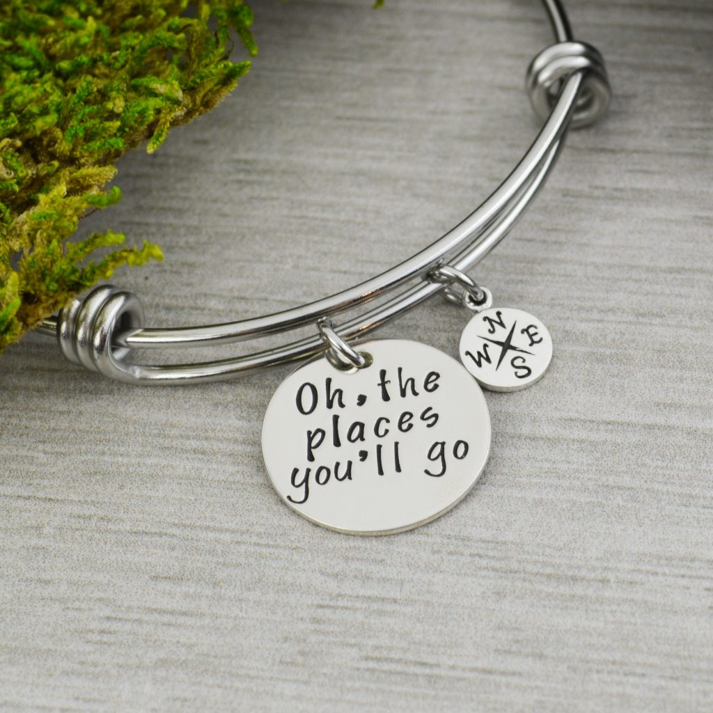 Men silver charm bracelet for place