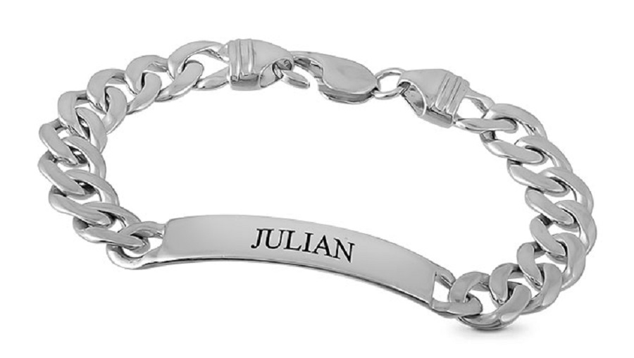 silver charm bracelet with initial name for girls