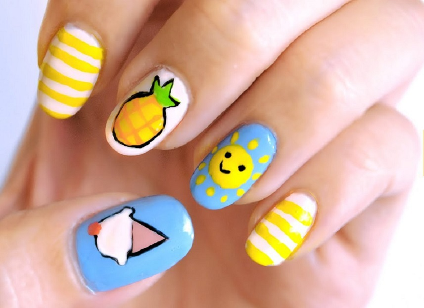 Beach Cute Nail ideas for Summer wedding