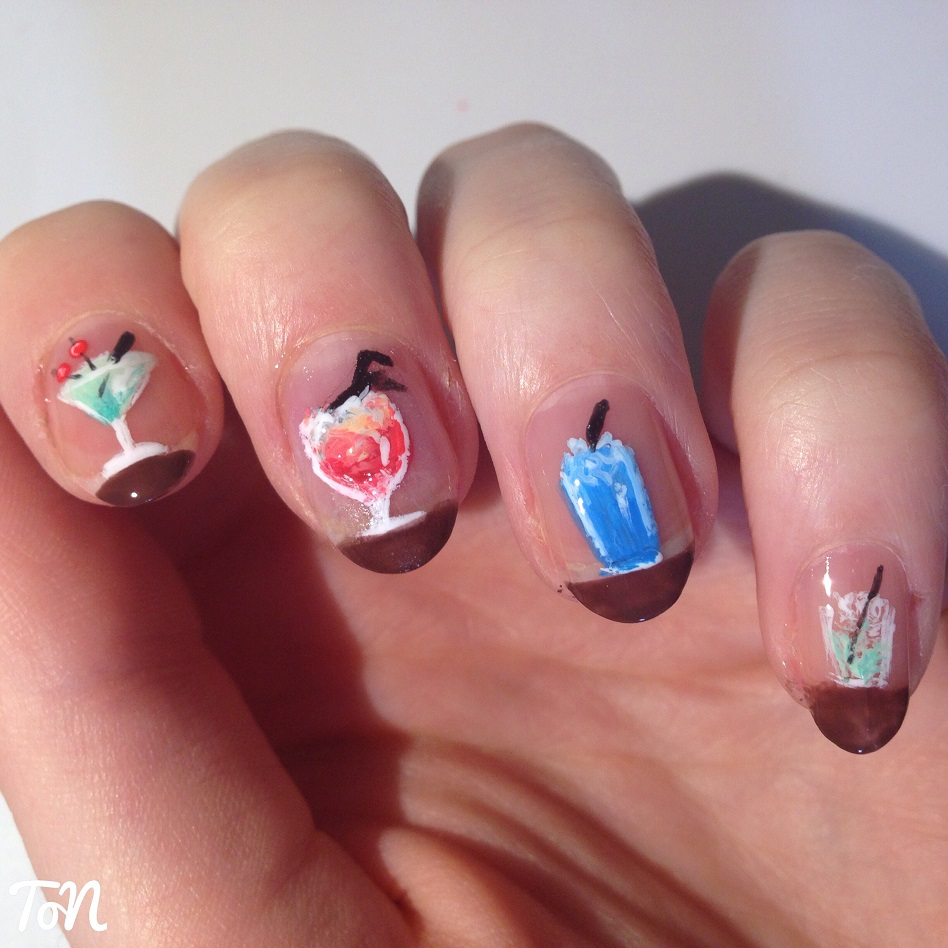 Cocktail Cute Nail Design for Summer