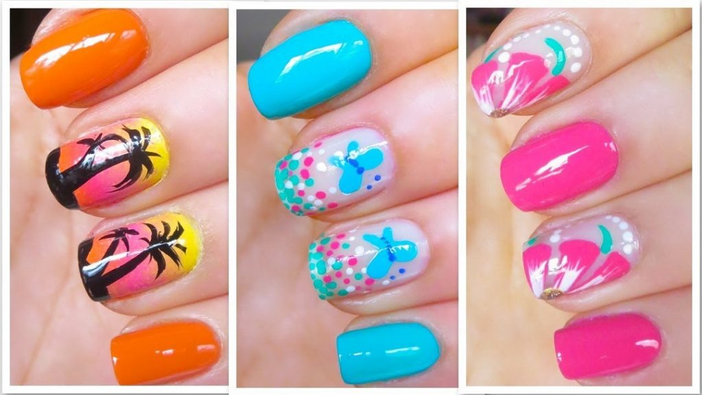 Colorful Nail Design Ideas for Summer Wedding