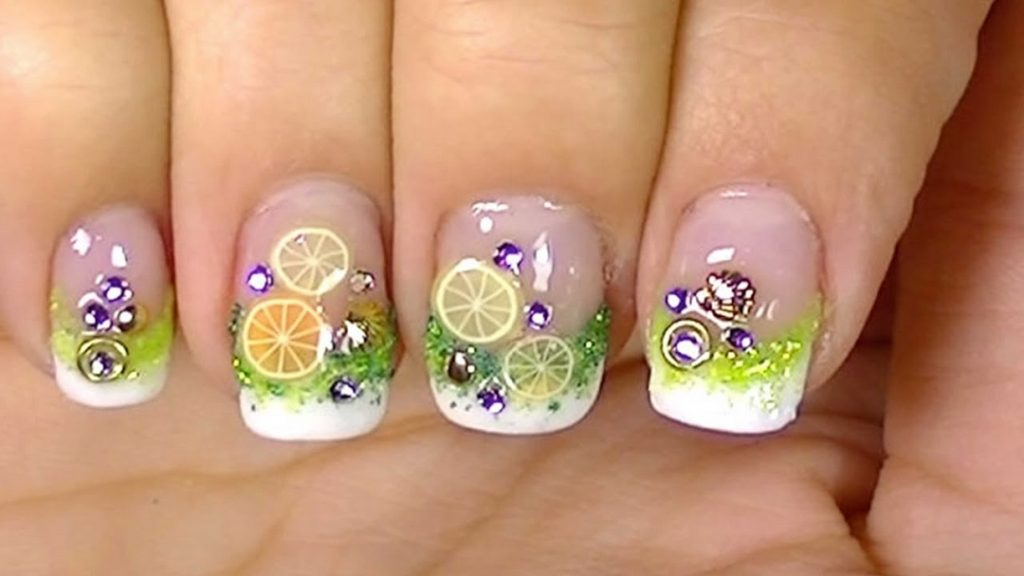 Dripping Cocktail Cute Nail Design
