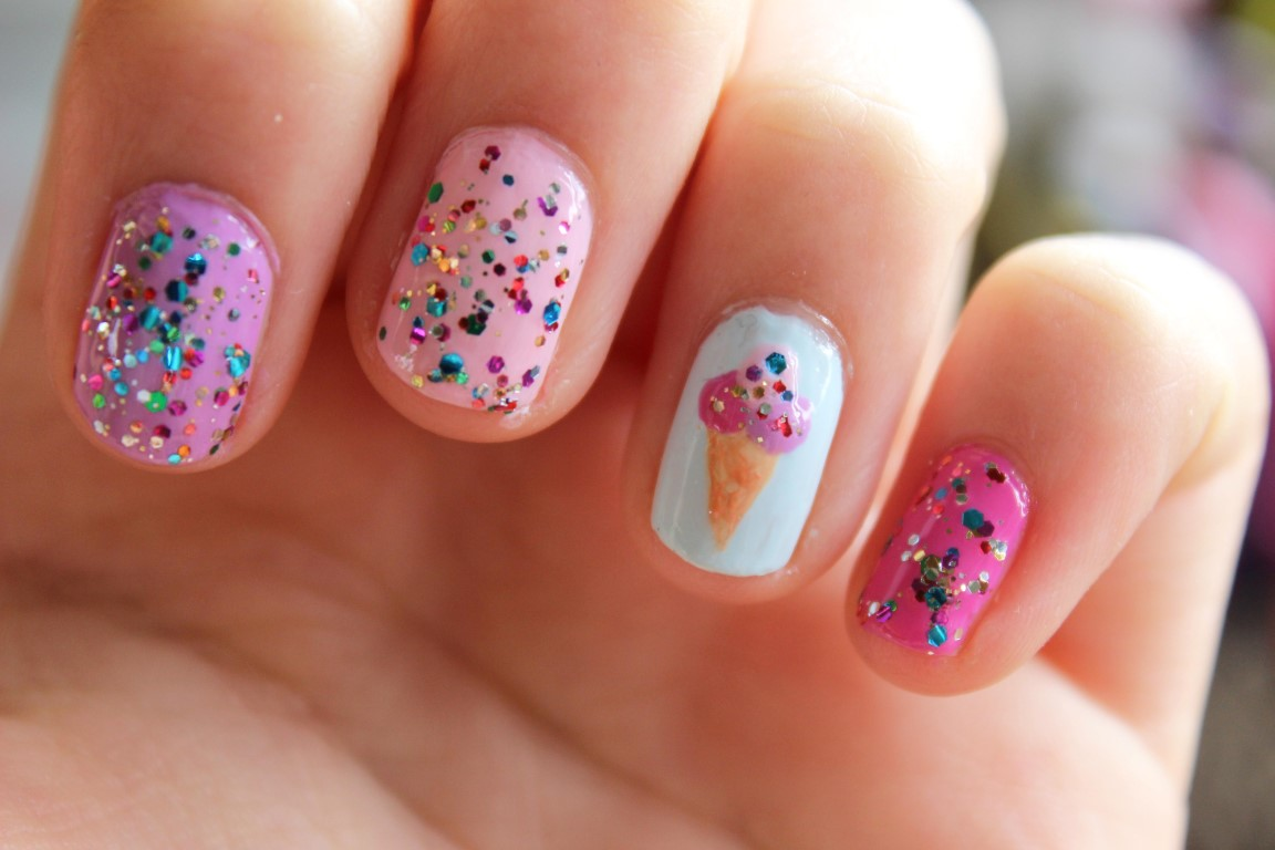 Ice Cream Cute Nail Designs