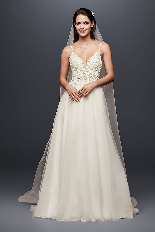 A Line Wedding Dresses Lace Simple