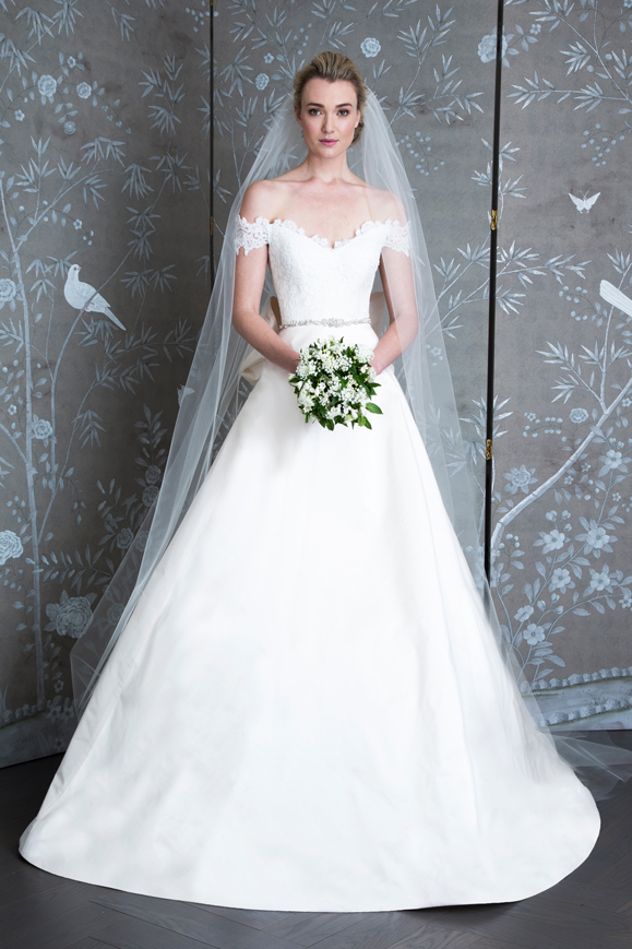 A Line Wedding Dresses Off The Shoulder
