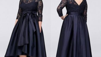 A line plus size dresses