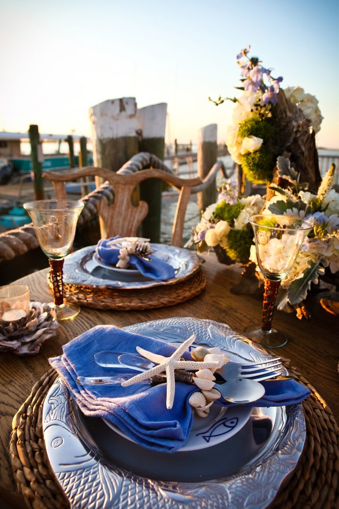Beach Ideas Nautical Table Decorations for Weddings