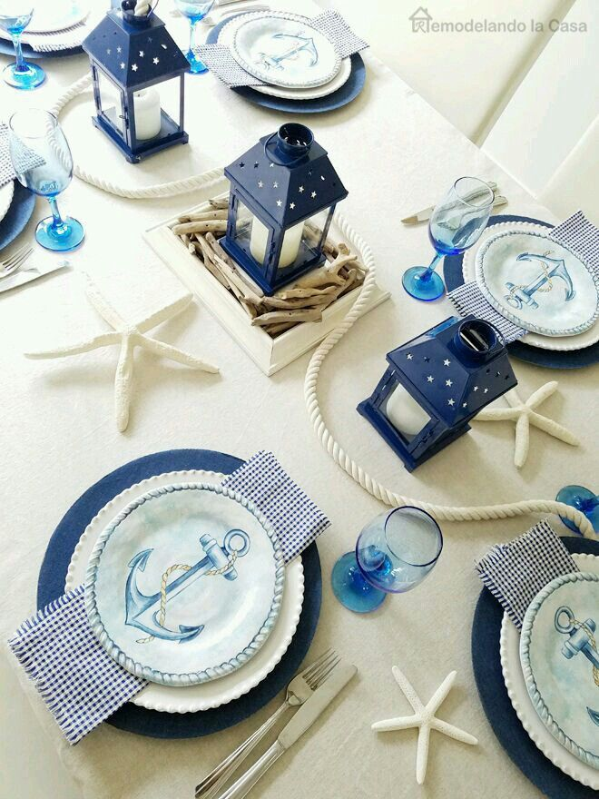 Beach Nautical Table Decorations for Weddings