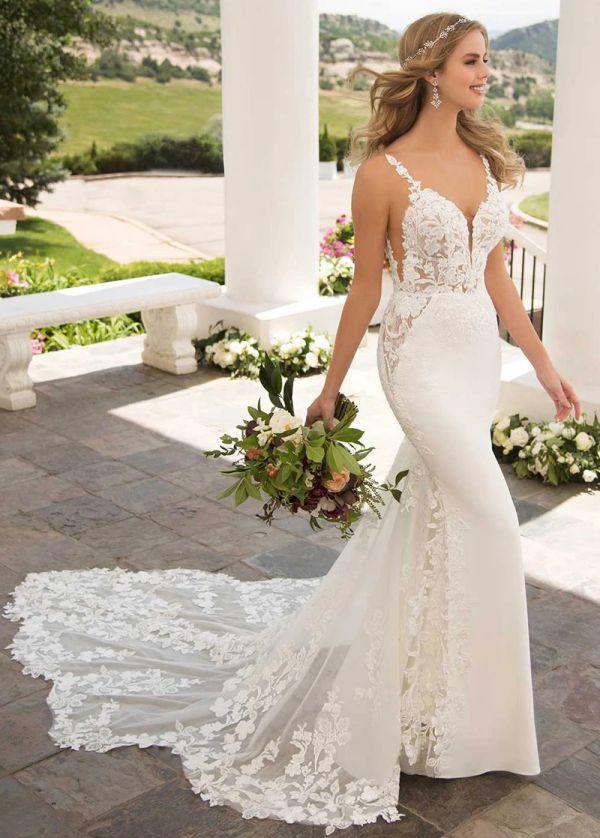 Beaded Mermaid Wedding Dress Plus Size