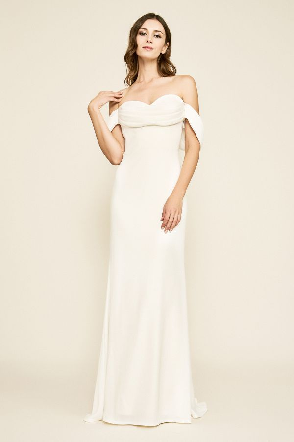 Beautiful Drape Off Shoulder Wedding Dresses