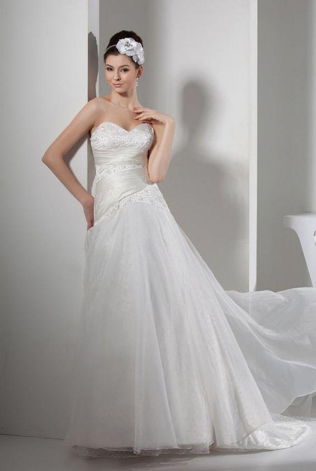 Beautiful Mermaid Wedding Dress Sweetheart Corsets Ivory