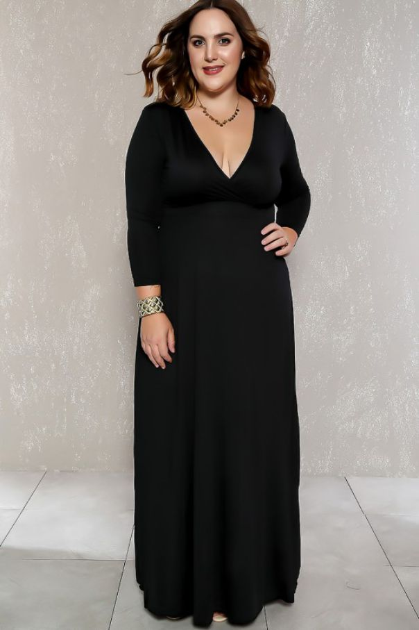 Beautiful Plus Size Black Evening Gowns