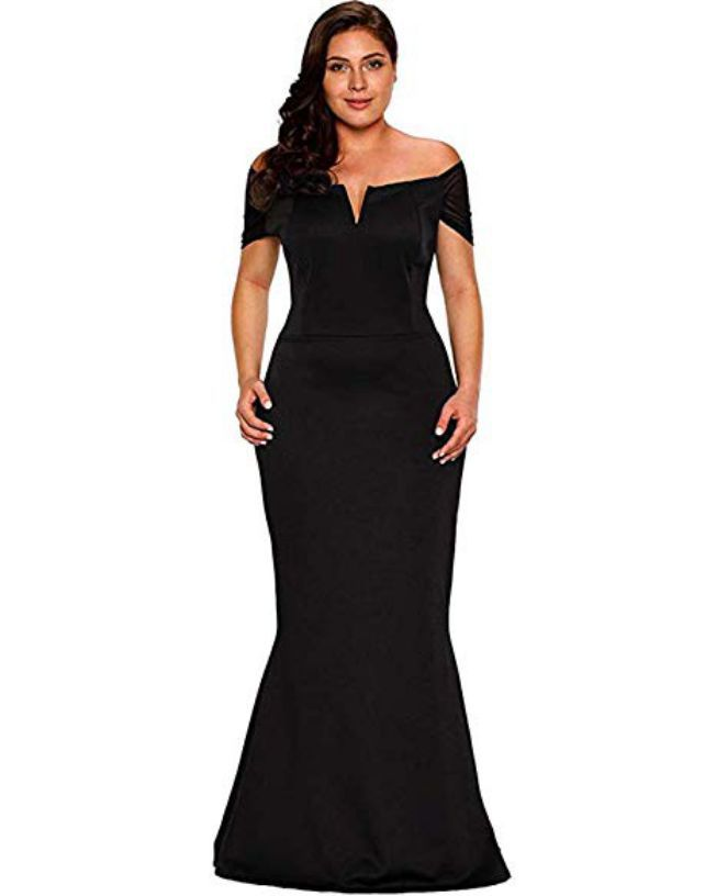Beautiful Plus Size Ruffled Evening Dress for Formal Dress