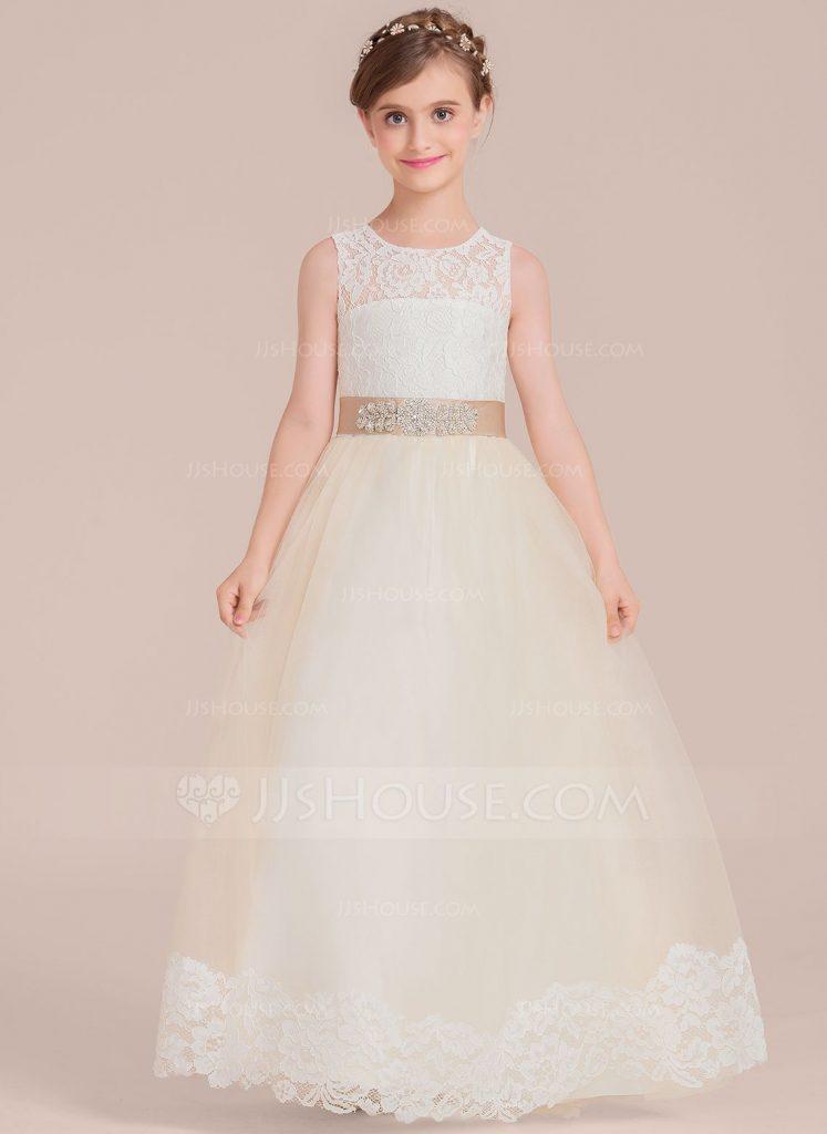 Beautiful Wedding dresses for girls Ball Gown Floor Lengt Girl Dress