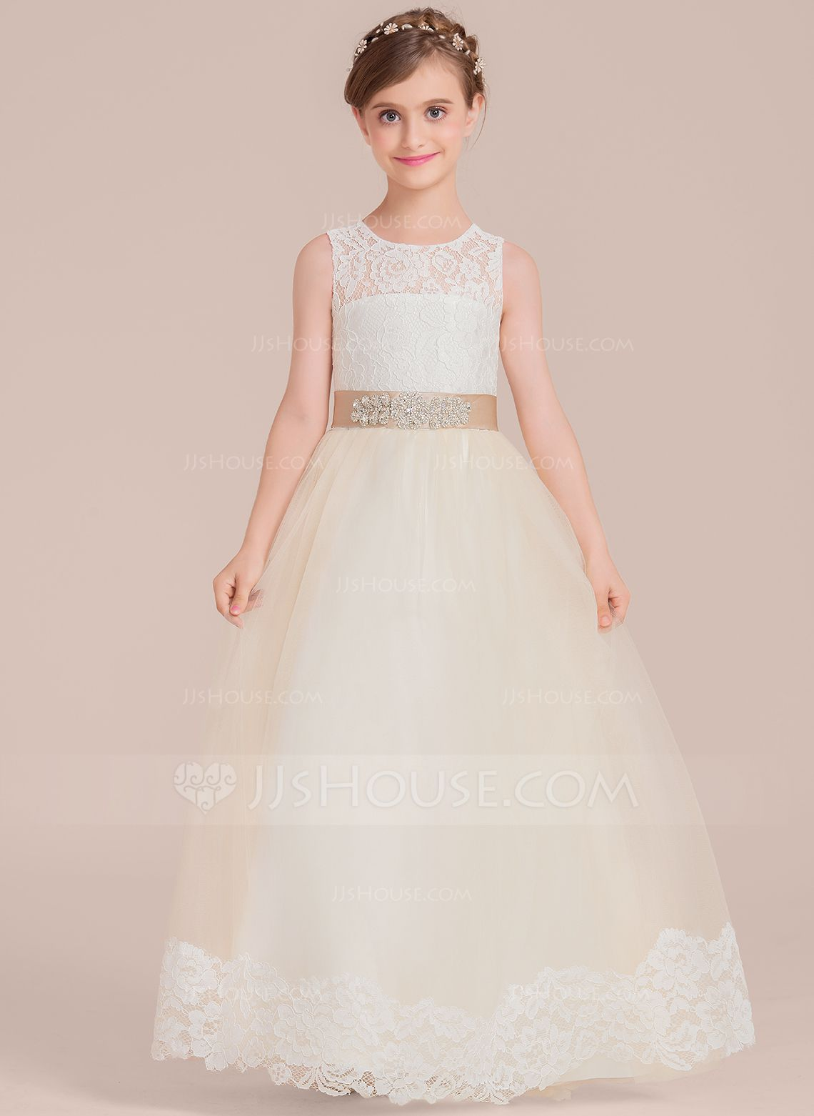 Beautiful Wedding dresses for girls Ball Gown Floor Lengt Girl Dress