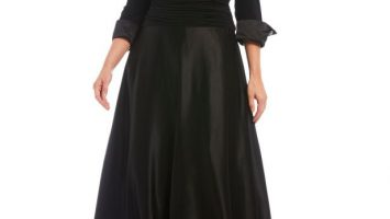 Black Evening Gown Elegant Plus Size