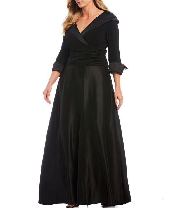 Black Evening Gown Elegant Plus Size