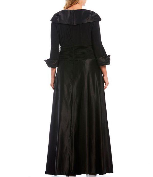 Black Evening Gown Elegant Plus Size Back Side