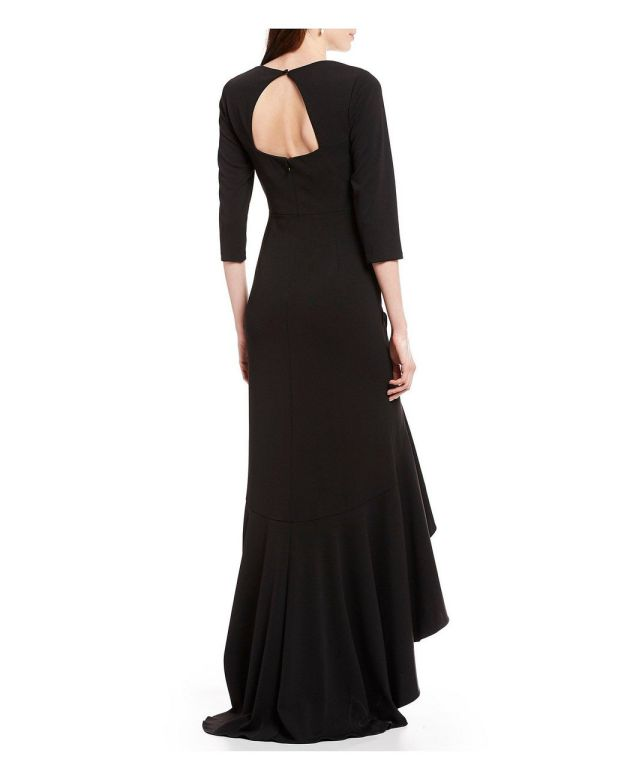 Black Evening Gowns With Sleeves Formal Prom