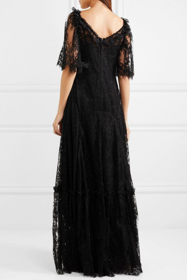 Black Wedding Dress Bridal Lace