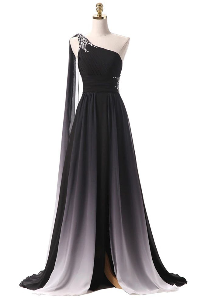 Black Wedding Dress Simple Style