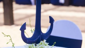 Blue Anchor Nautical Table Decorations for Weddings