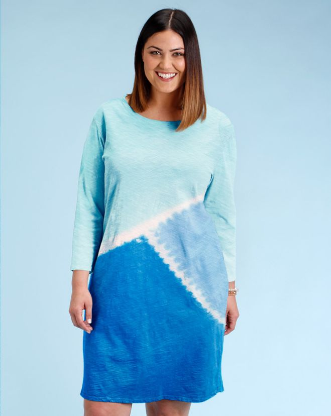 Blue Catalina Dress for Plus Size Womens