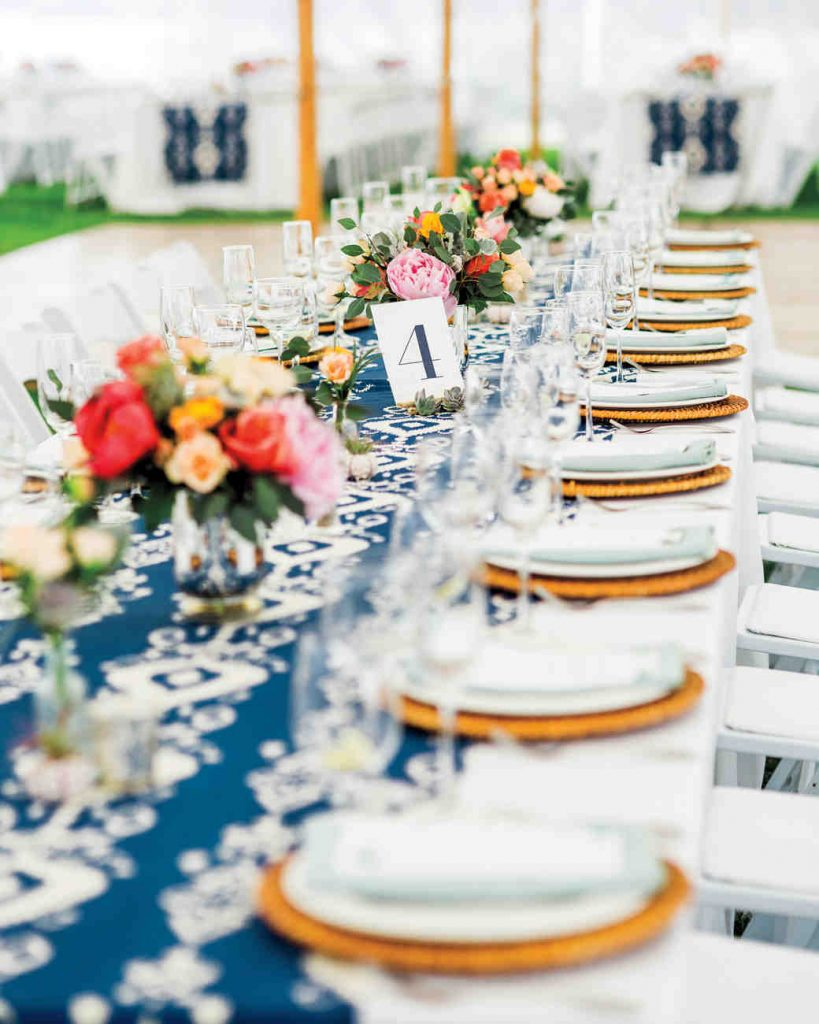 Blue Table Decorations for Weddings
