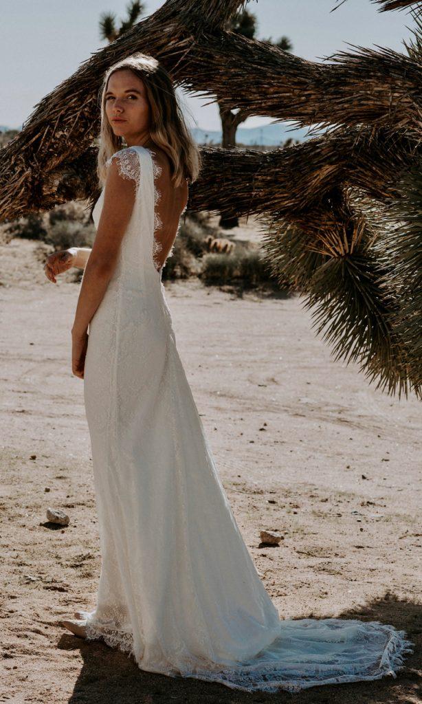 Bohemian Wedding Dress Backless Grace Loves Lace
