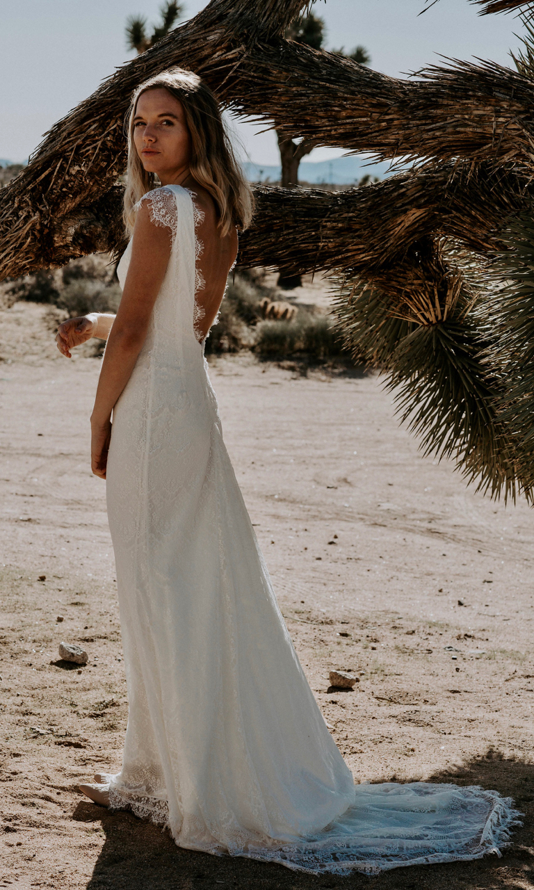 Bohemian Wedding Dress Backless Grace Loves Lace