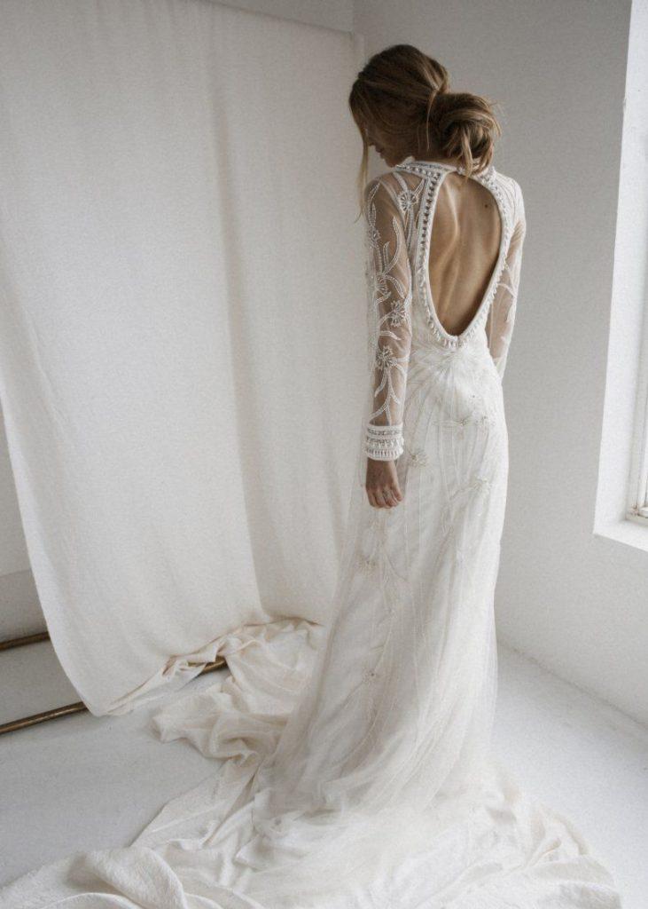 Bohemian Wedding Dress Backless Open Backs