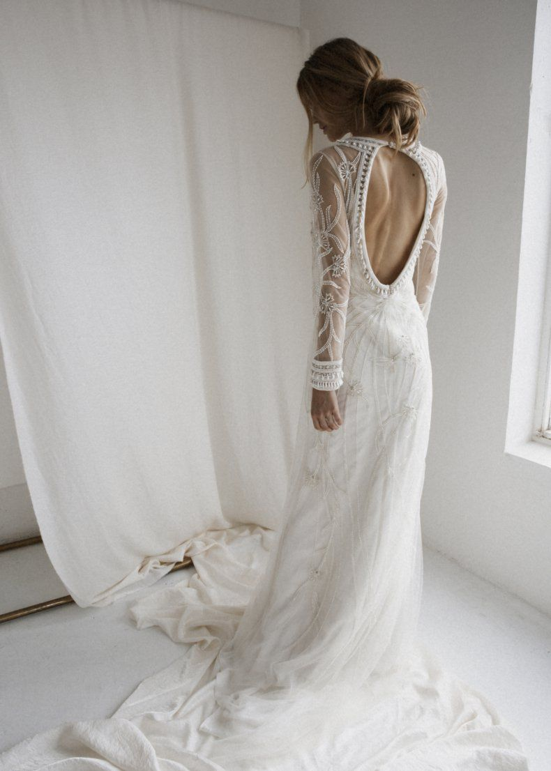 Bohemian Wedding Dress Backless Open Backs