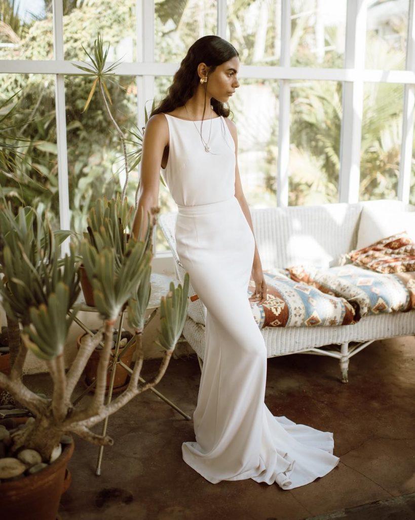 Bohemian Wedding Dress Simple Style