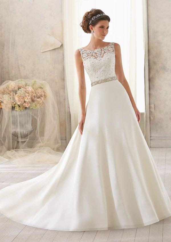 Boho Wedding Dresses Sleeveless Floor length with Lace and Beading Wedding Dress