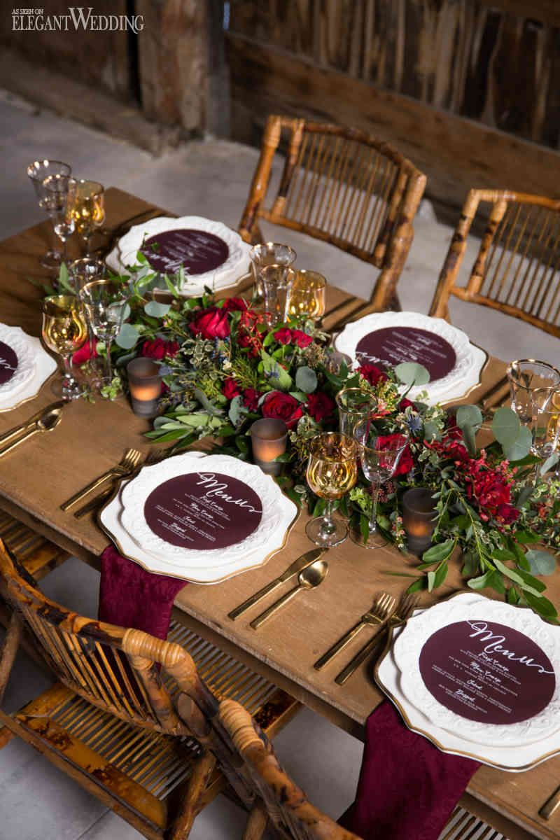Burgundy Wedding Table Ideas