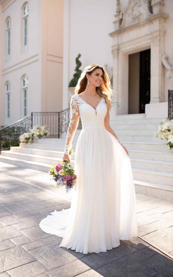 Casual White Wedding Dress Plus Size