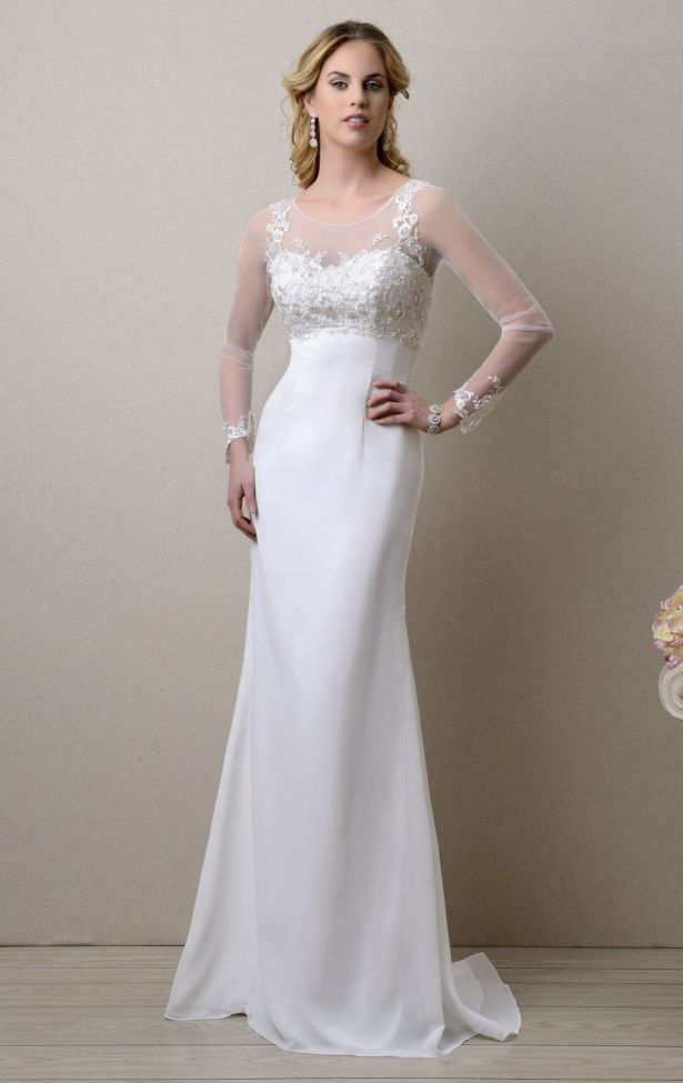 Casual White Wedding Dress Simple and Beautiful